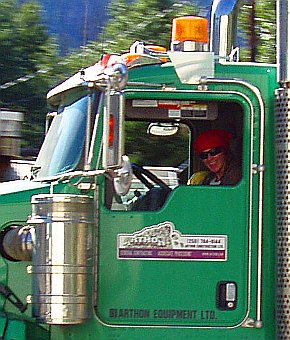 Arthon truck with smiling driver