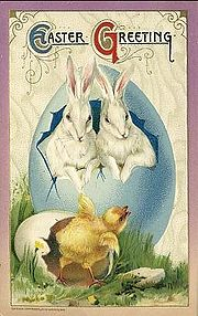 Easter Postcard dated 1910 by Winsch