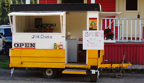 Food Cart outside Coalmont Hotel