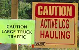 Active Haul Road sign