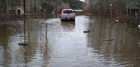 Otter Lake overflowing streets
